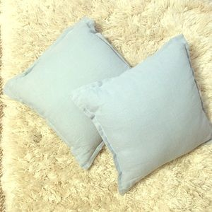 Threshold Washed Cotton/Linen Square Throw Pillow
